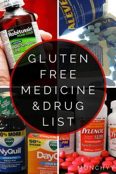 Gluten Free Medicine and Drug List-2