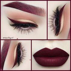Those lips, eye liner, and brows are RED HOT! #REDHOT #eyeliner #roseredlippy