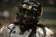 Pittsburgh Power WR A.J. Jackson up close and personal. (Photo by Julio Torres)