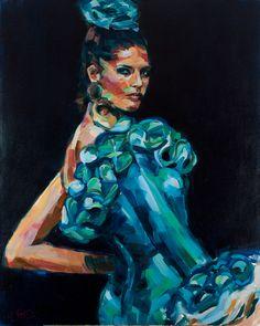 Aqua oil on canvas 81cmx100cm