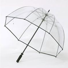 Huge Clear Rain Golf, Top Quality PVC Material Strong Windproof Fibreglass Framed Umbrella