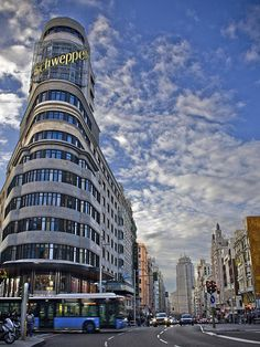 Gran Via Madrid Print By Victor Ludena
