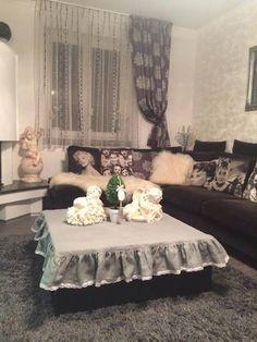Linen tablecloth by shabby.romantic / Ľanový obrus Frozen Beauty