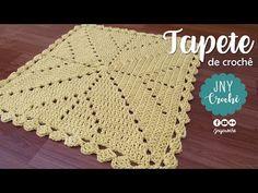 Tapete de crochê quadrado para sala | passo a passo | JNY CROCHE - YouTube