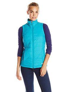 White Sierra Womens Peak Packable Vest Medium Jewel Green * Click image to review more details.