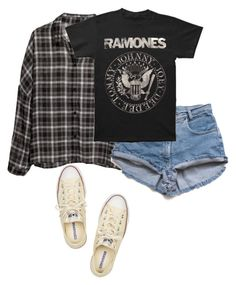 """""""Screaming """"I don't love you and I never did! You're just a number in my pocket so get the hell over it!"""" // Set#72"""" by sammihorror ❤ liked on Polyvore featuring H&M and Converse"""