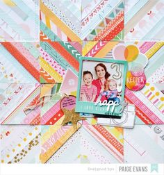 Happy #layout by Paige Evans for @americancrafts #scrapbooking #papercrafts