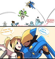 Overwatch Femslash Overwatch Pharah, Overwatch Memes, Kaito, Mercy And Pharah, Overwatch Funny Comic, Cute Cat Names, Overwatch Wallpapers, Lesbian Art, Anime Furry