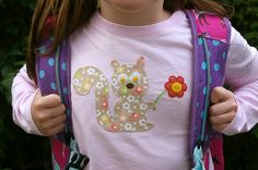 During Quiet Time: Back to School Applique Tute by @Amy Friend.