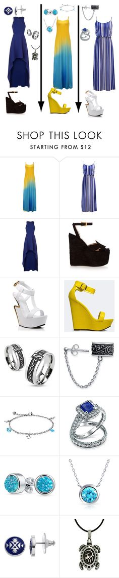 """""""Maxi all the way"""" by dpclma ❤ liked on Polyvore featuring BCBGMAXAZRIA, Gucci, Giuseppe Zanotti, Breckelle's, West Coast Jewelry, Bling Jewelry, Chaps and Carolina Glamour Collection"""