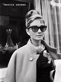 Audrey Hepburn photographed by Morris Warman on the set of Breakfast at Tiffany's, Oct 1960