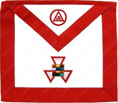 Masonic Royal Arch Past High Priest PHP Apron Hand Embroidered MA 353 V   eBay