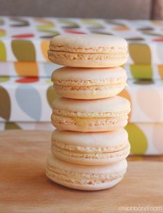 Peach-coloured macarons for Easter. Made by me!