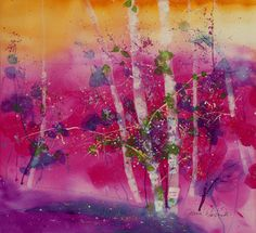 """""""June Pinks"""" by Jeanne Carbonetti....Vermont watercolor artist"""