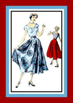 Vintage 1940s Feminine &  Flirty Two Piece by FarfallaDesignStudio, $14.00