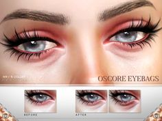 Eyebags in 15 colors. Found in TSR Category 'Sims 4 Female Skin Details'