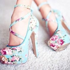 Cute shoes, with the exception of the crippled look I would have on my face within an hour or so of putting them on  lol