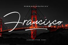 The Francisco Script Font is what you are looking for! With its realistic pen texture, you can get the design you want! Francisco is designed to be your next favorite font. With its ligatures and multilingual support, it will be great for your logo Handwritten Fonts, Script Fonts, All Fonts, Police, Free Fonts Download, Font Free, Sans Serif, Premium Fonts, Signature Design