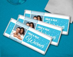A sweet addition to your wedding reception table decor, personalized HERSHEY'S chocolate will be loved by guests of all ages. Add your photo for a extra special memento.