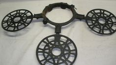 Antique Cast Iron Wood stove Stove Pipe 3 Shelf Plate Warmer And Trivets 1882 -- Antique Price Guide Details Page