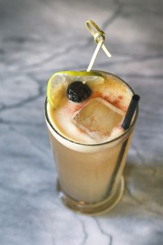 Singapore Sling – gin, pineapple juice, lime juice, Cointreau, Benedectine, Cherry Heering, Angostura bitters