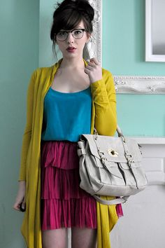 Color blocking. I need to remember everything doesn't have to coordinate all the time!