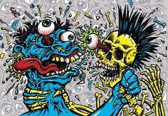 Arte Zombie, Cartoon Rat, Zombie Wallpaper, Blood Art, Stoner Art, Dope Wallpapers, Skull Artwork, Bright Art, Cartoon Tattoos
