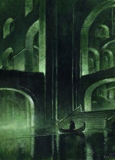 flyfishfly:   Phantom of the Opera inspired artwork by Edward Miller, pseudonym of British fantasy artist Les Edwards.