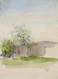"dappledwithshadow: ""Garden with Tree, Egon Schiele, 1907. """