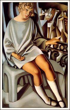 Tamara de Lempicka - Kizette On The Balcony, 1927