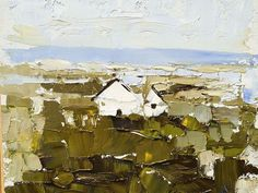 Irish Houses by Sandra Pratt Oil ~ 8 x 10