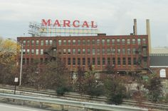 Elmwood Park (Bergen County) - Long a landmark beside I-80, the Marcal factory is now owned by the Soundview Paper Company and manufactures paper tissues, napkins and towels.