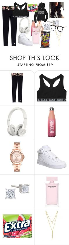 """""""SKOOL💖"""" by loveyouallways ❤ liked on Polyvore featuring Victoria's Secret, Beats by Dr. Dre, Michael Kors, NIKE and CC SKYE"""