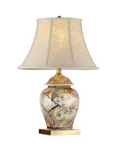 陶瓷台灯 陶瓷 手绘彩瓷+手工拉坯 将军瓶 Φ430*H630mm Chinese Lamps, Table Lamps, Lighting Design, Beautiful Homes, Real Estate, Bright, Interiors, Home Decor, Light Design