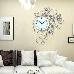 Woman's Silhouette Iron Wall Clock | $$102.25 | Best SALES on Unique Quality Home Decor, Wall Art and Throw Pillows