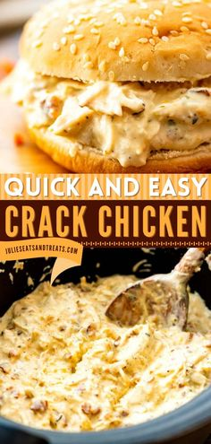 Looking for slow cooker recipes to make for your crocktober fest? This Crack Chicken is a great crockpot meal with a delicious combination of chicken, cream cheese, Ranch, cheese, and bacon! Pin this chicken idea! Best Crockpot Recipes, Slow Cooker Recipes, Air Fryer Dinner Recipes, Easy Dinner Recipes, Cheesy Sauce, Wrap Sandwiches, Crack Chicken, Slow Cooker Chicken, Food To Make
