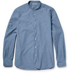 Boglioli Chambray Henley Shirt | MR PORTER