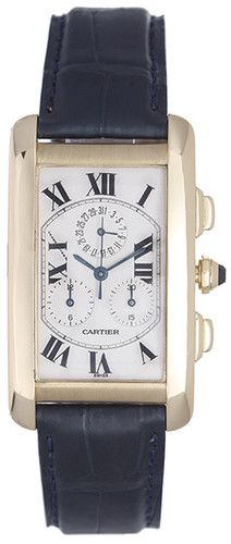 My favorite watch. Ever.    (Cartier Tank Americaine or American Men's 18K Yellow Gold Chronograph Watch)