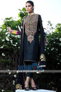 Fahad Hussayn Tehwar Collection Dresses in Black