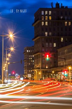 lH by night - Le Havre, Long Exposure, Street Photography, Multi Story Building, France, Explore, Night, City, Instagram