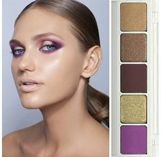 Natasha denona star palette | purple gold smoky eyes dramatic bold nude lips