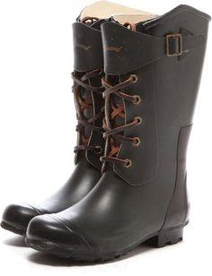 Laced up rain boots / ShopStyle: AmaortJSHET ST 革紐レースアップショートレインブーツ shopstyle.co.jp