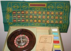 Roulette Game ESLowe 1941 Board Game Roulette by vintagegifts
