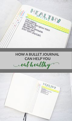 Use a bullet journal to plan healthy meals!
