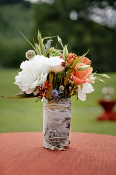 #birch, #centerpiece  Photography: Maloman Photographers - www.maloman.com  Read More: http://www.stylemepretty.com/2010/08/24/aspen-colorado-wedding-by-stephan-maloman/