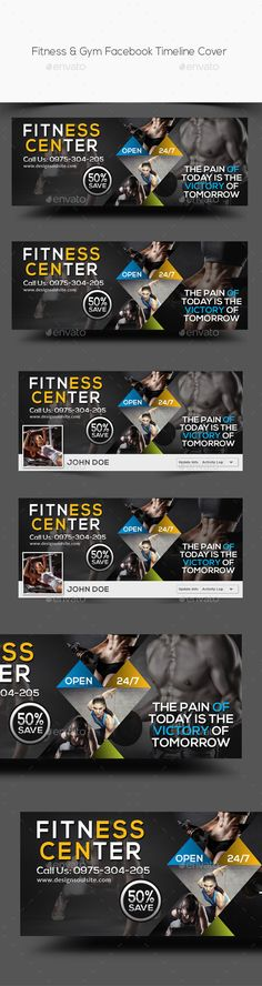 Fitness & Gym Facebook Timeline Cover Template PSD. Download here: http://graphicriver.net/item/fitness-gym-facebook-timeline-cover/14949609?ref=ksioks