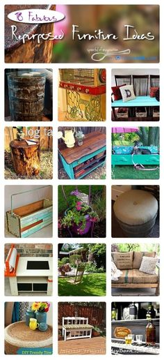18 Fabulous Repurposed Furniture Ideas | curated by 'Spoonful of Imagination' blog!