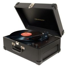Black record player