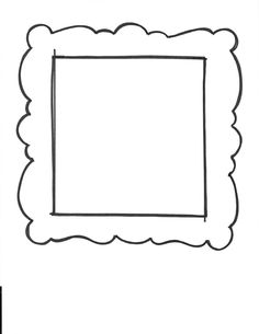 Printable picture frames templates your own picture for 10 frame template printable
