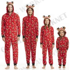 Xmas Kids Adult Family Matching Christmas Pajamas Sleepwear Nightwear Pyjamas #Unbranded #PajamaSets #Everyday